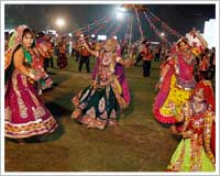 Garba is the city's largest festival